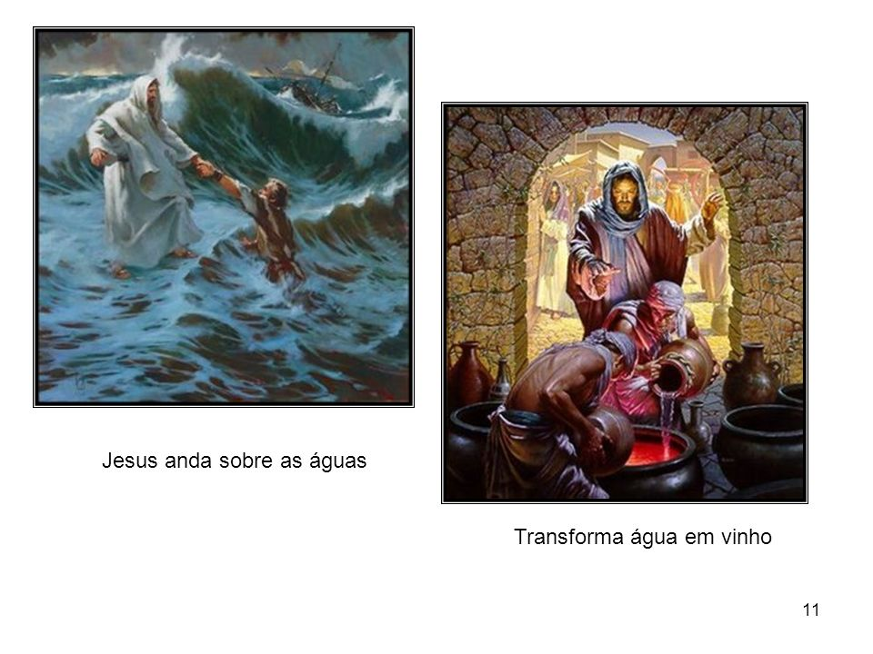 Jesus anda sobre as águas