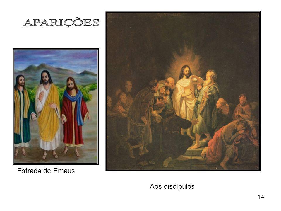 APARIÇÕES Estrada de Emaus Aos discípulos