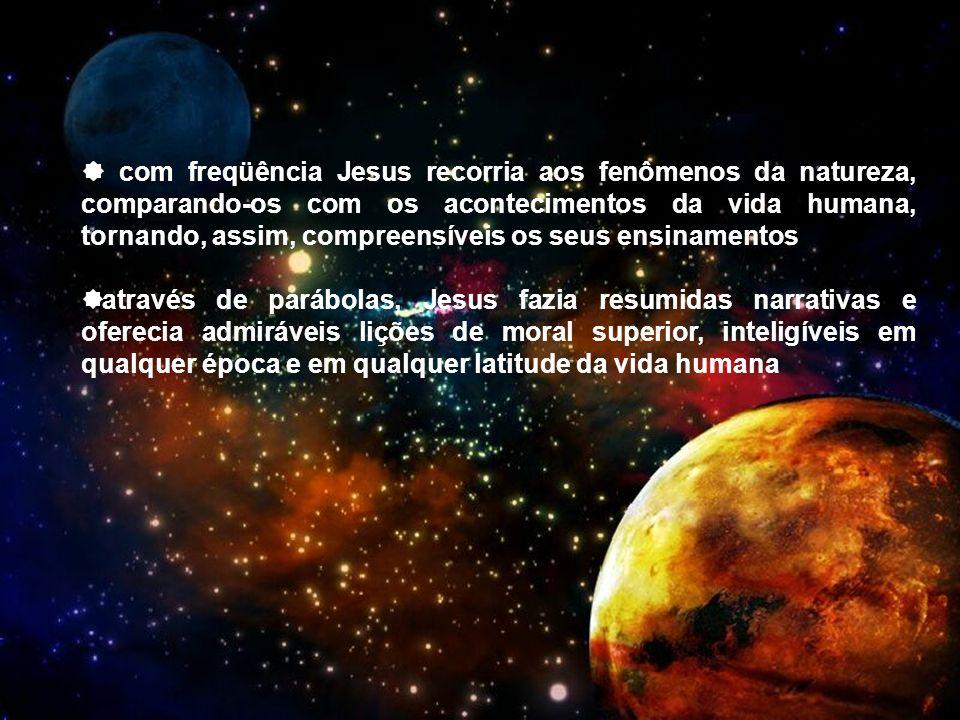  com freqüência Jesus recorria aos fenômenos da natureza, comparando-os com os acontecimentos da vida humana, tornando, assim, compreensíveis os seus ensinamentos