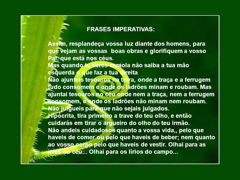 FRASES IMPERATIVAS: