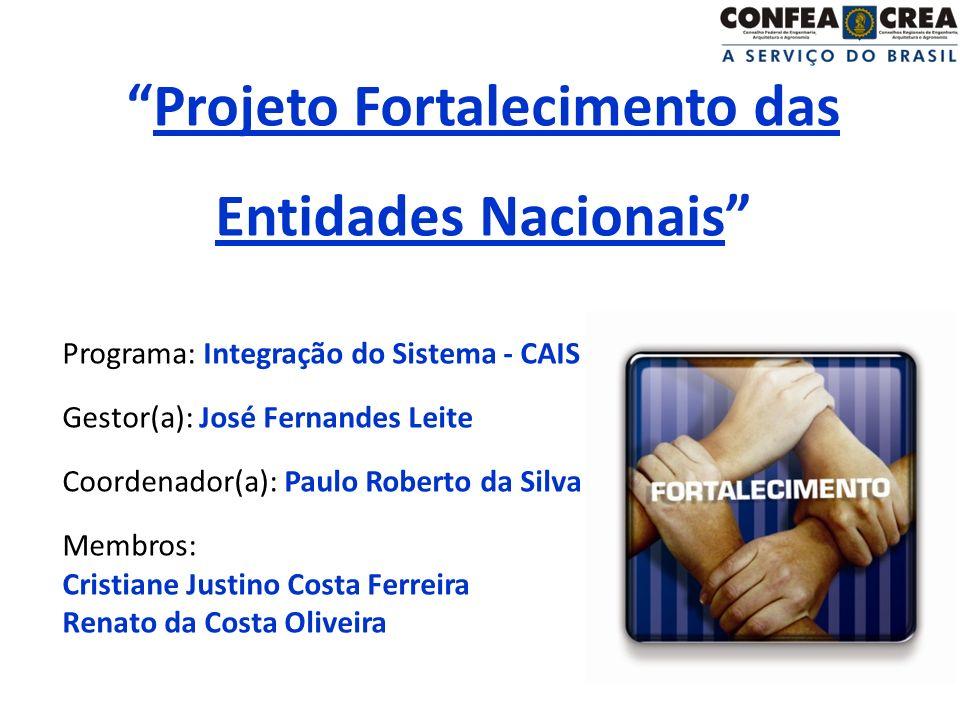 Projeto Fortalecimento das Entidades Nacionais