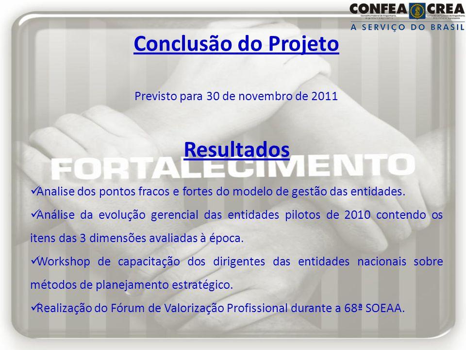 Previsto para 30 de novembro de 2011