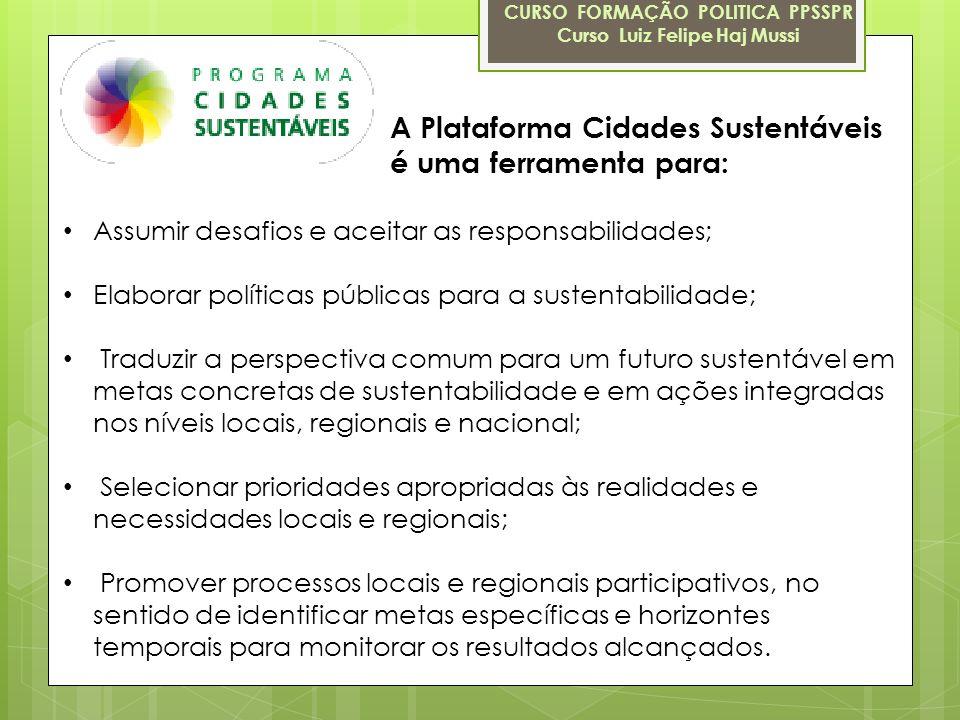 A Plataforma Cidades Sustentáveis é uma ferramenta para:
