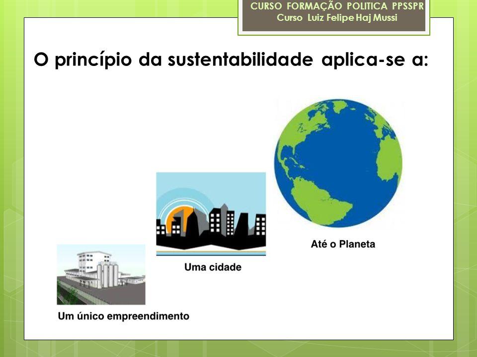 O princípio da sustentabilidade aplica-se a: