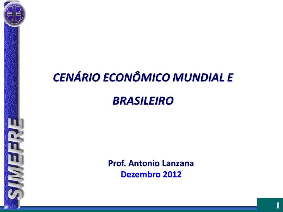 CENÁRIO ECONÔMICO MUNDIAL E BRASILEIRO
