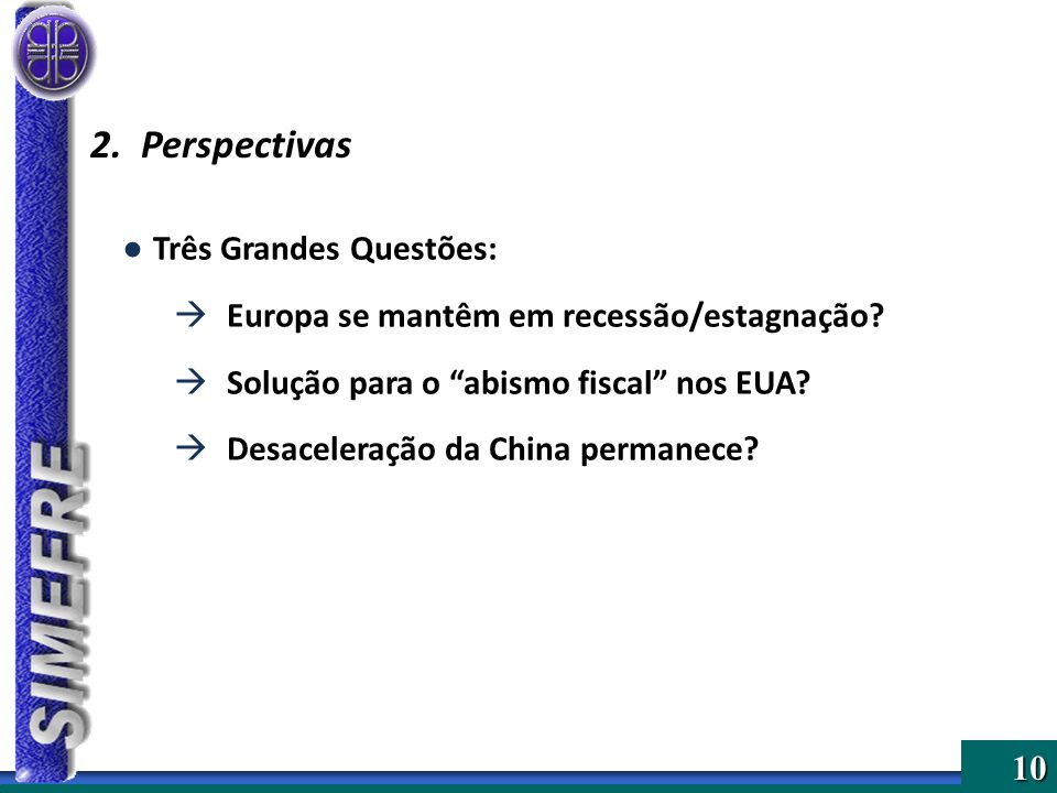 2. Perspectivas Três Grandes Questões: