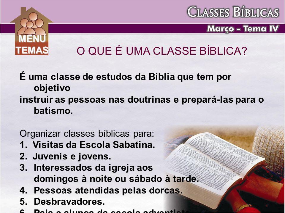 O QUE É UMA CLASSE BÍBLICA