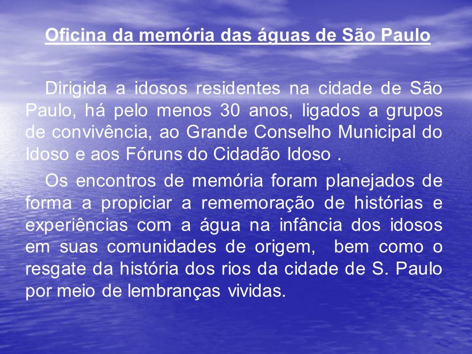 Oficina da memória das águas de São Paulo