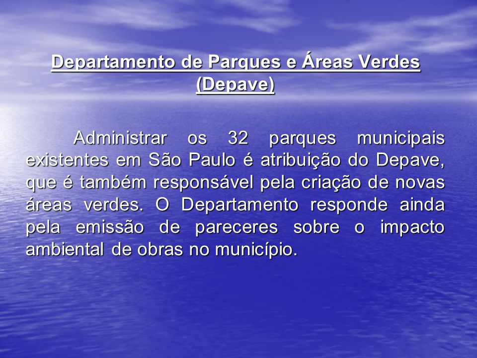 Departamento de Parques e Áreas Verdes (Depave)