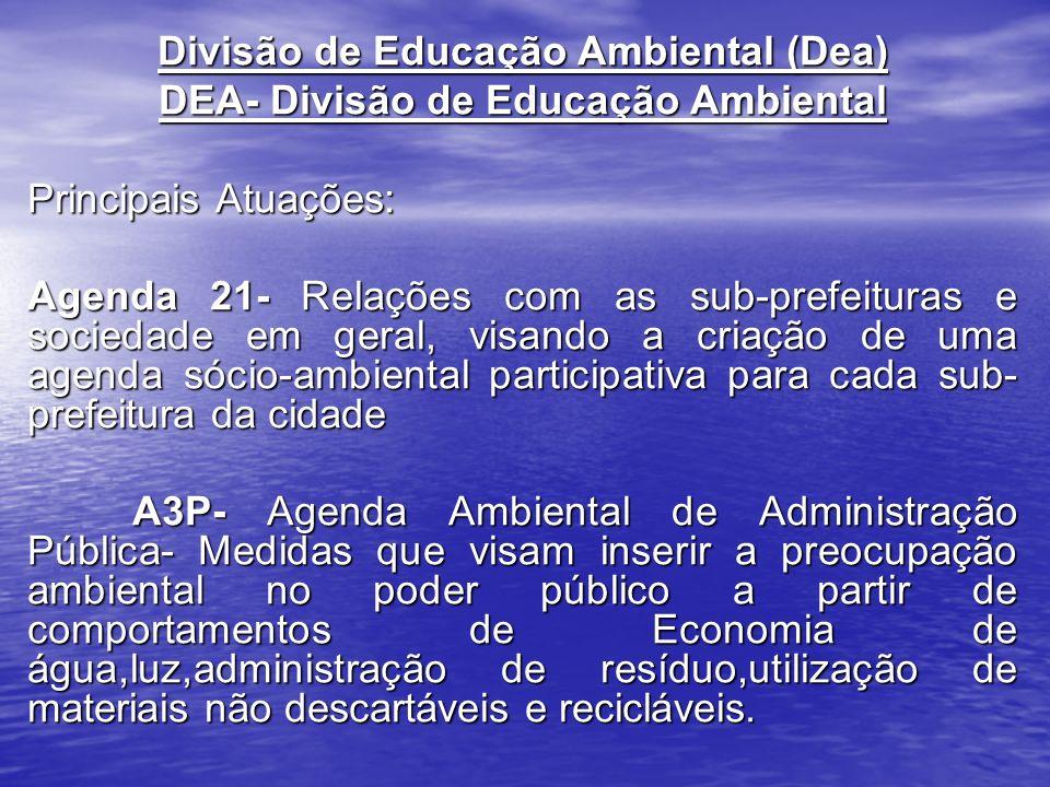 Divisão de Educação Ambiental (Dea) DEA- Divisão de Educação Ambiental