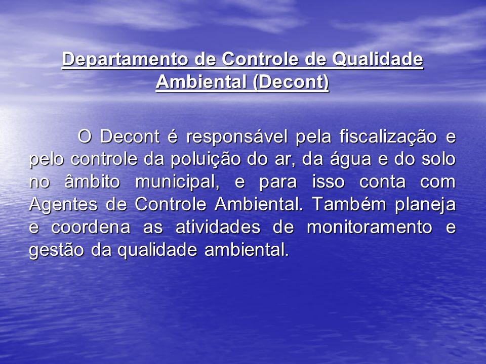Departamento de Controle de Qualidade Ambiental (Decont)