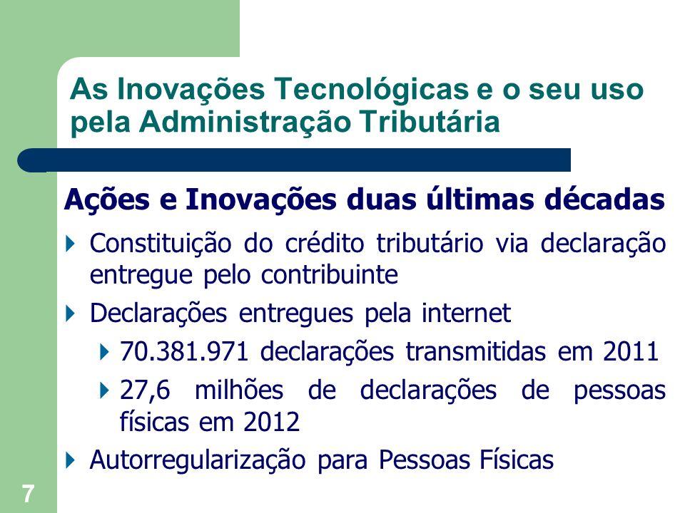 As Inovações Tecnológicas e o seu uso pela Administração Tributária