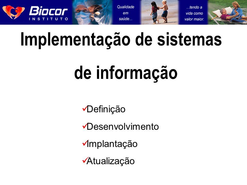Implementação de sistemas de informação