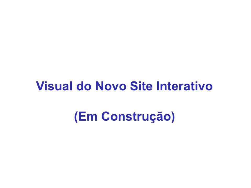 Visual do Novo Site Interativo (Em Construção)