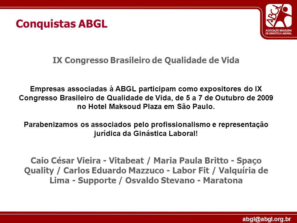 IX Congresso Brasileiro de Qualidade de Vida