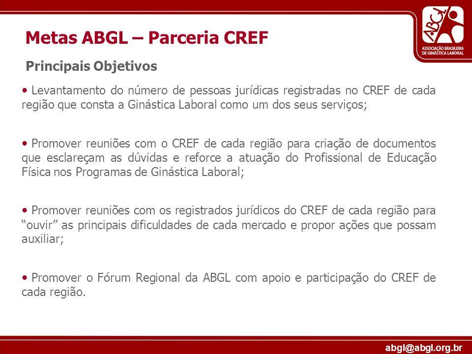 Metas ABGL – Parceria CREF
