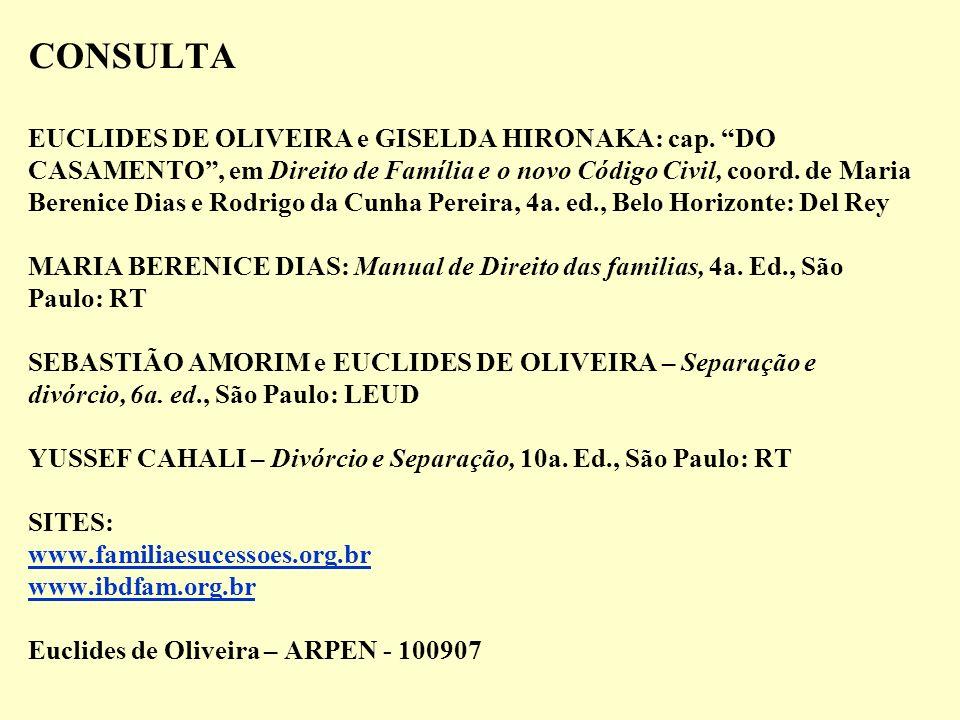 CONSULTA EUCLIDES DE OLIVEIRA e GISELDA HIRONAKA: cap