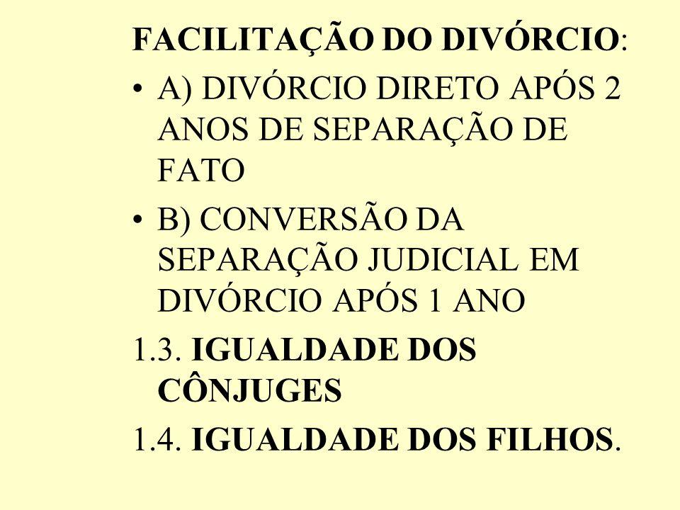 FACILITAÇÃO DO DIVÓRCIO: