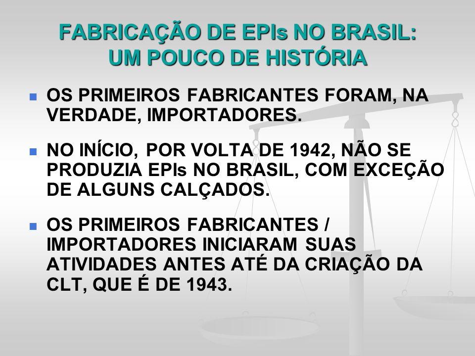 FABRICAÇÃO DE EPIs NO BRASIL: UM POUCO DE HISTÓRIA