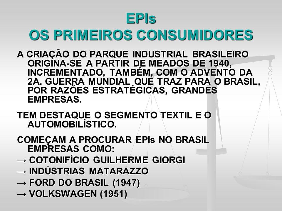 EPIs OS PRIMEIROS CONSUMIDORES