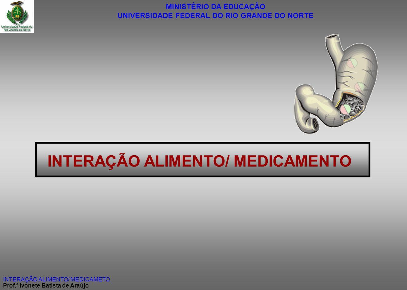 INTERAÇÃO ALIMENTO/ MEDICAMENTO