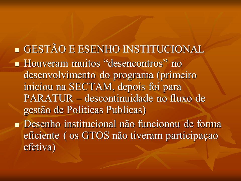 GESTÃO E ESENHO INSTITUCIONAL