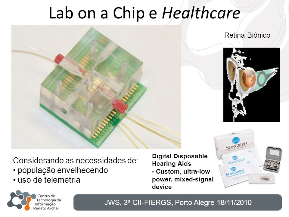 Lab on a Chip e Healthcare