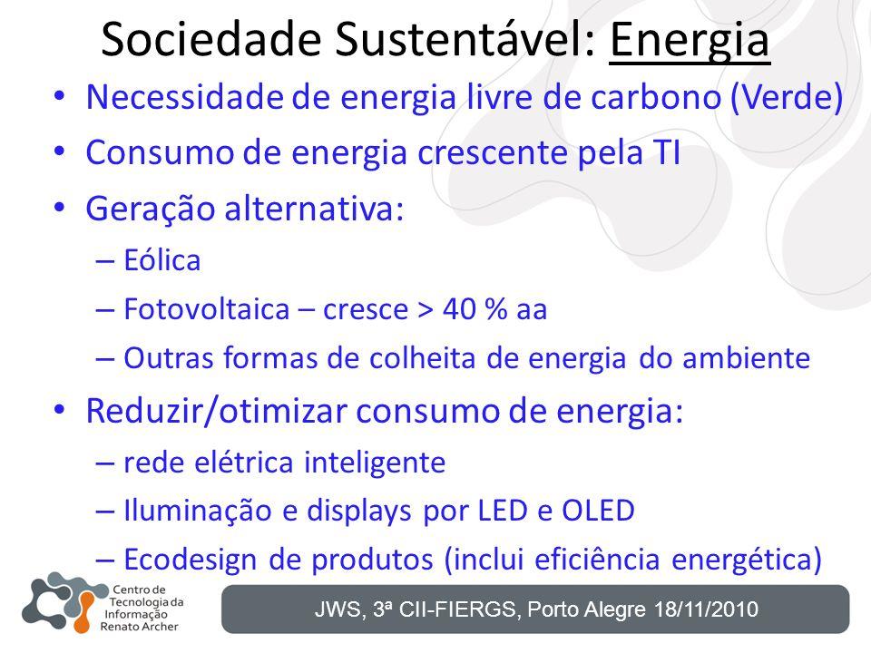 Sociedade Sustentável: Energia