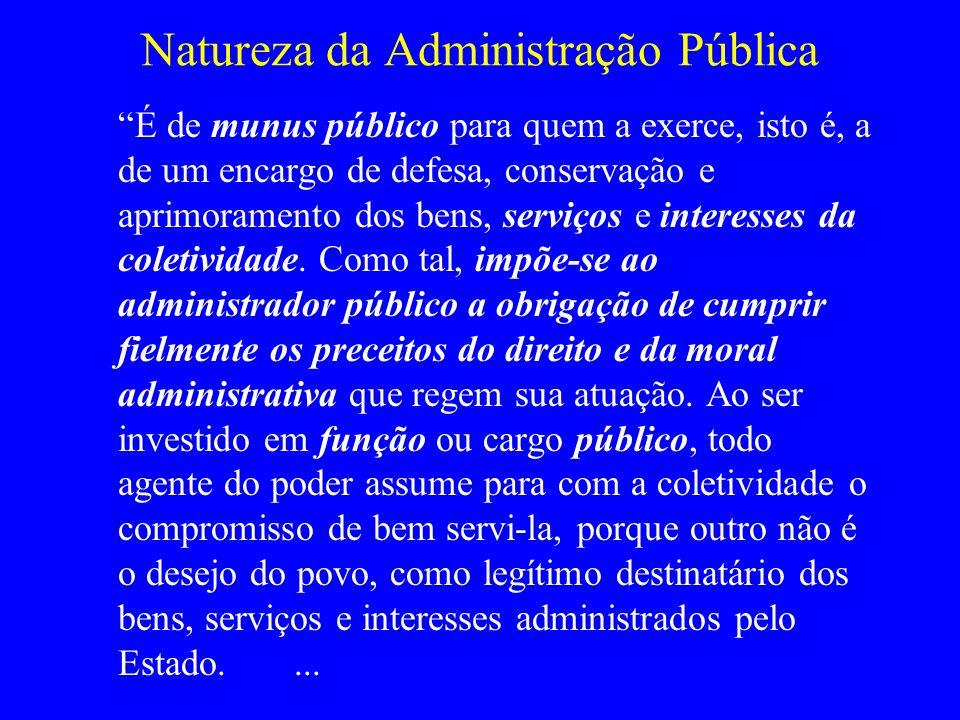Natureza da Administração Pública