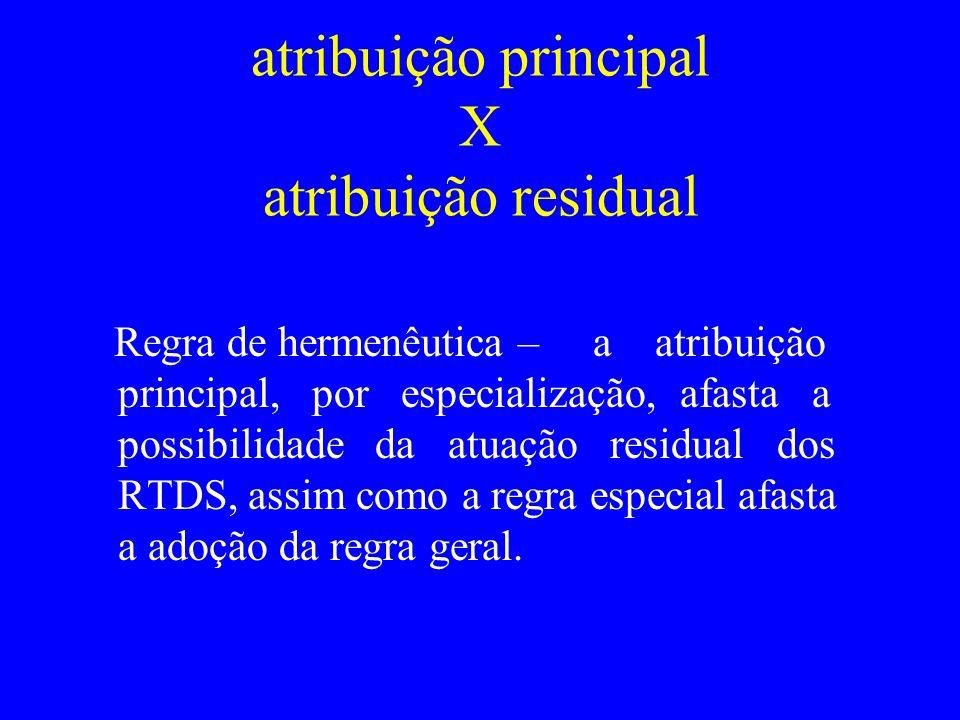 atribuição principal X atribuição residual