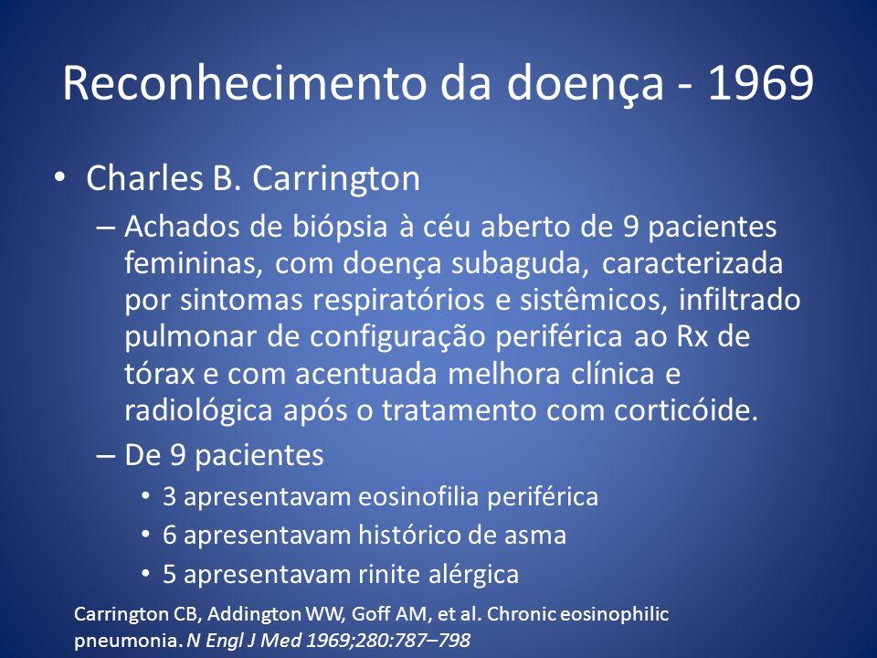 Reconhecimento da doença - 1969