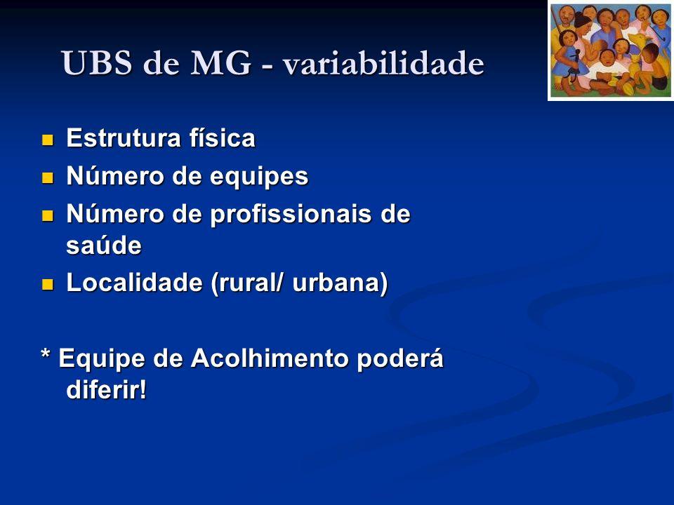 UBS de MG - variabilidade