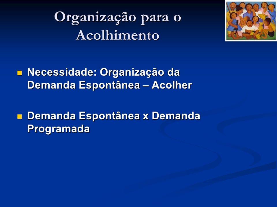 Organização para o Acolhimento