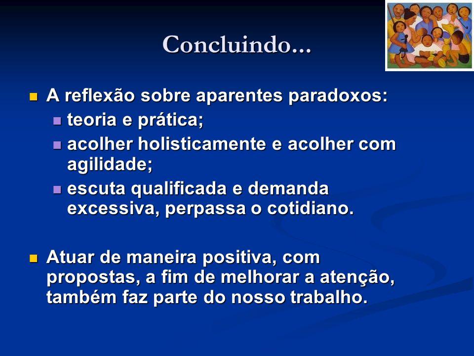 Concluindo... A reflexão sobre aparentes paradoxos: teoria e prática;