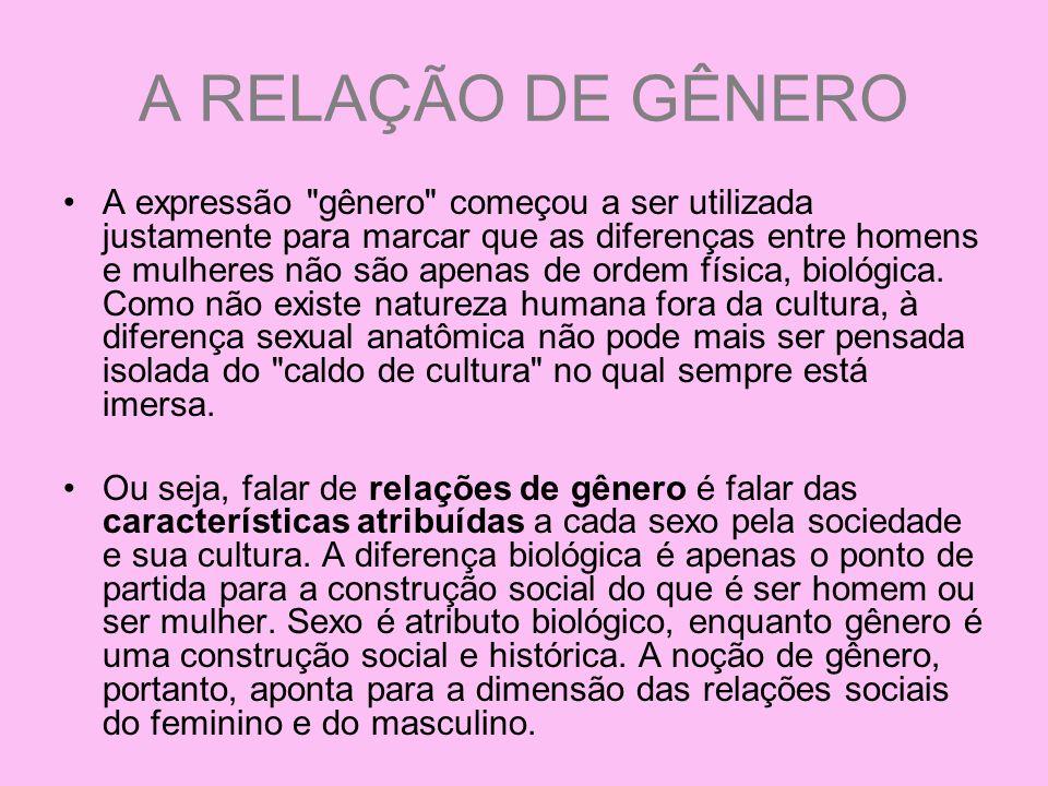 A RELAÇÃO DE GÊNERO