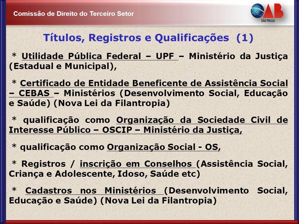 Títulos, Registros e Qualificações (1)