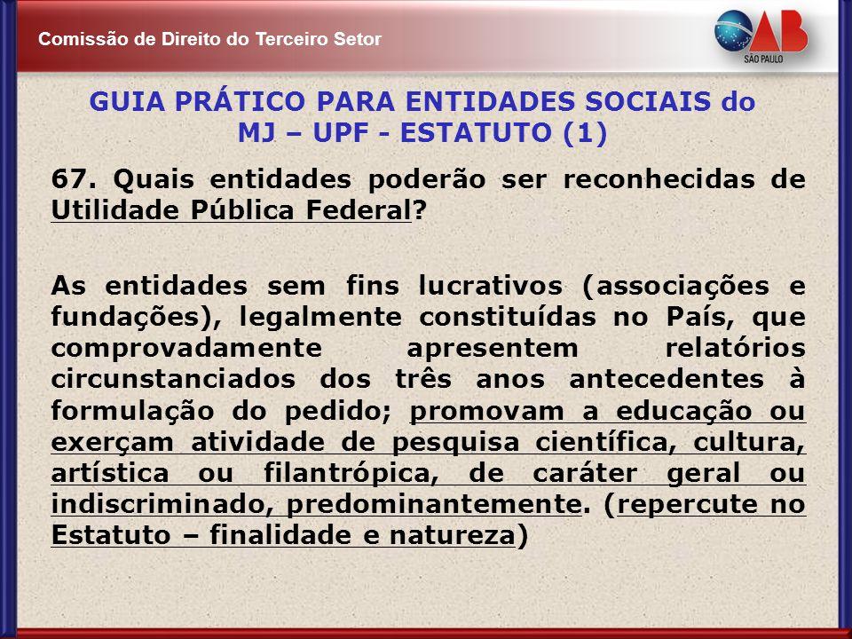 GUIA PRÁTICO PARA ENTIDADES SOCIAIS do MJ – UPF - ESTATUTO (1)