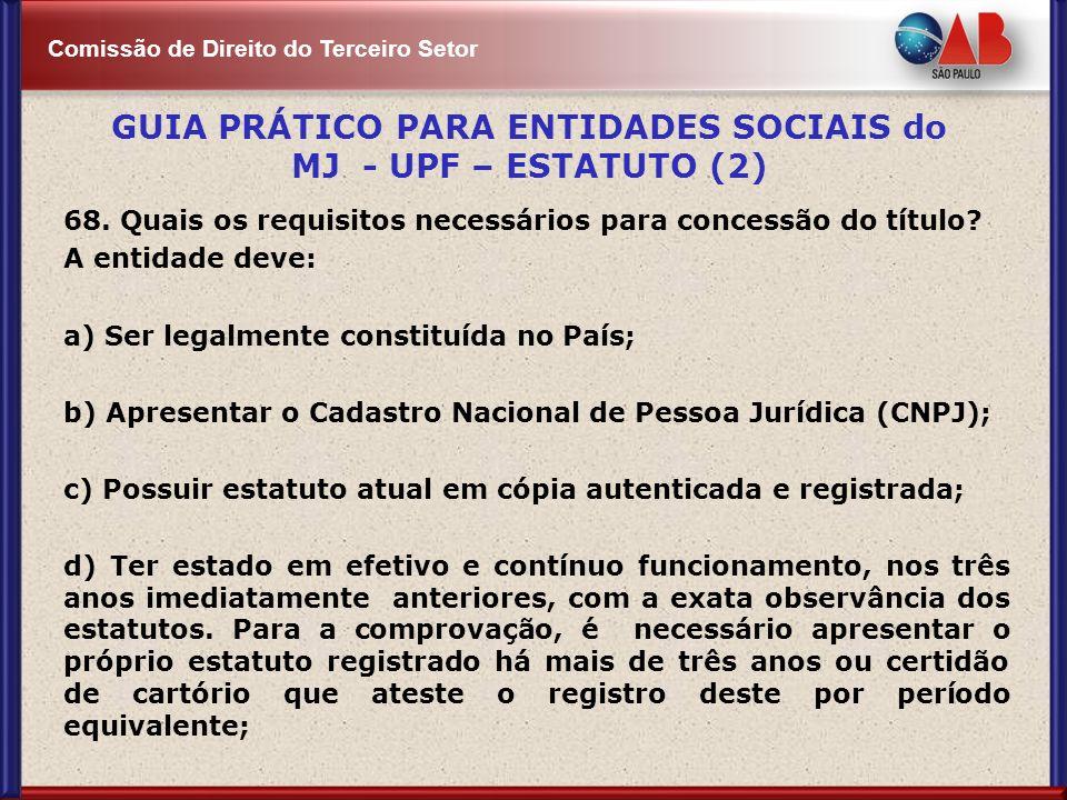 GUIA PRÁTICO PARA ENTIDADES SOCIAIS do MJ - UPF – ESTATUTO (2)