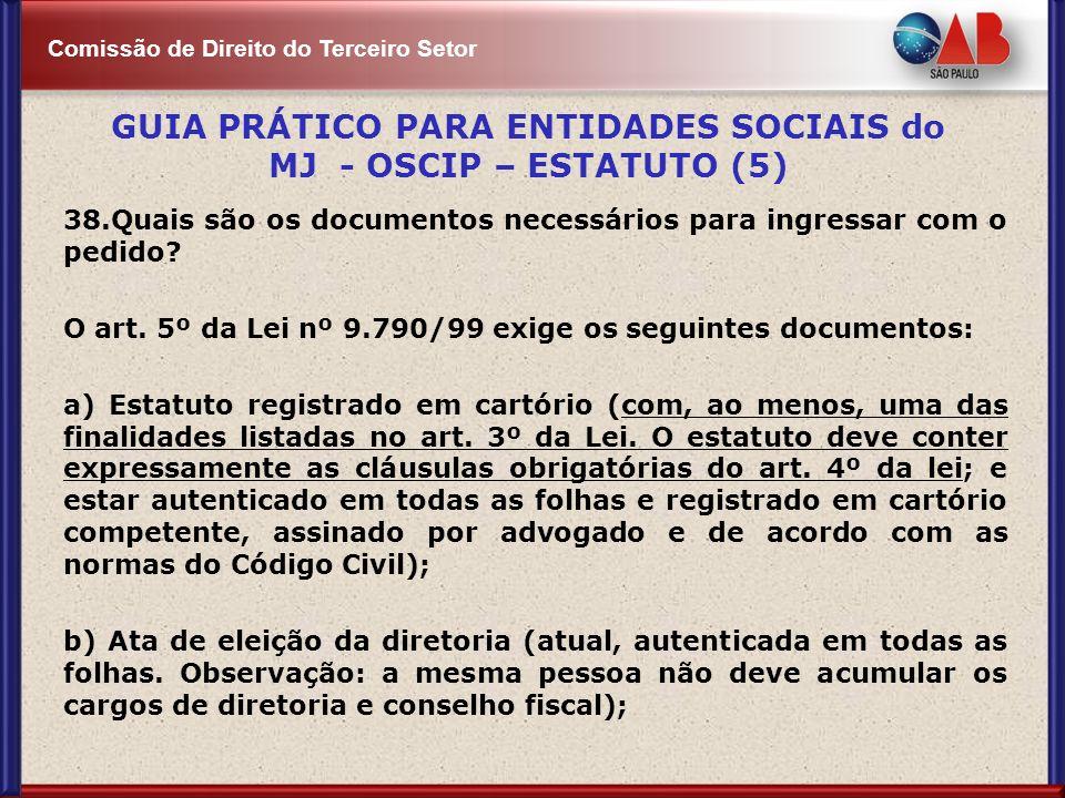 GUIA PRÁTICO PARA ENTIDADES SOCIAIS do MJ - OSCIP – ESTATUTO (5)