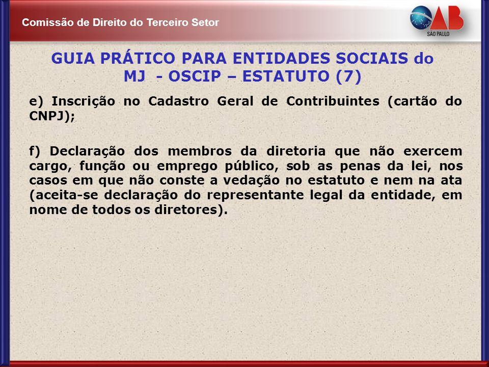 GUIA PRÁTICO PARA ENTIDADES SOCIAIS do MJ - OSCIP – ESTATUTO (7)