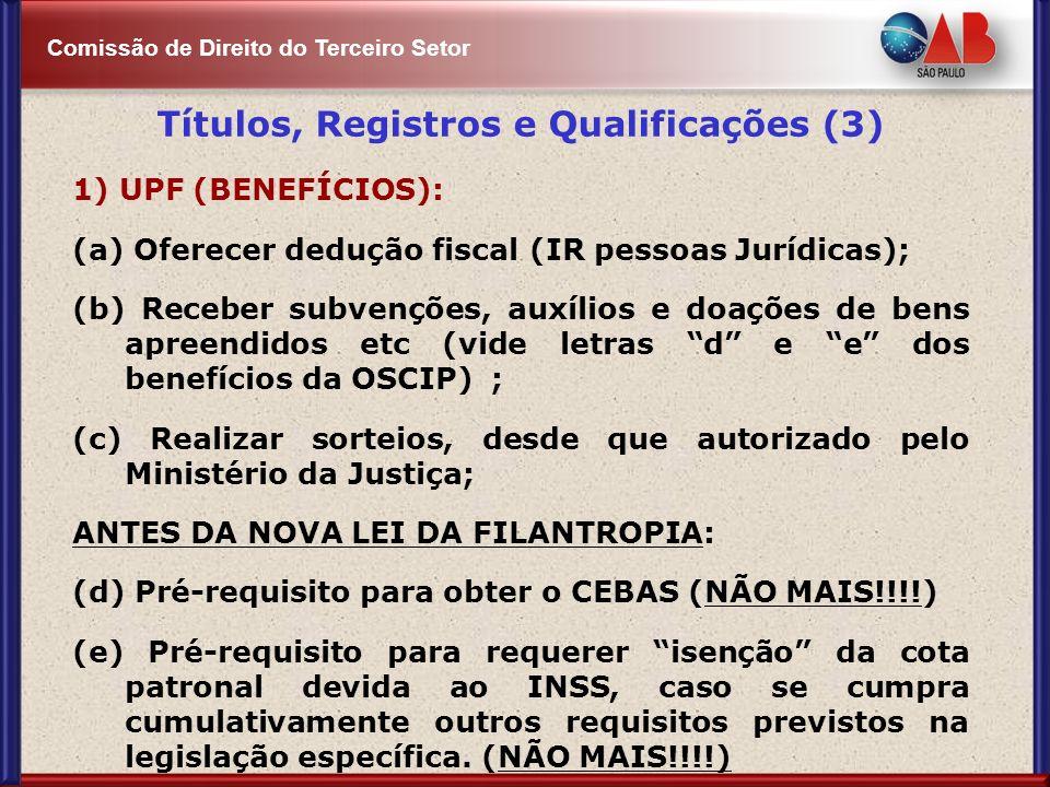 Títulos, Registros e Qualificações (3)