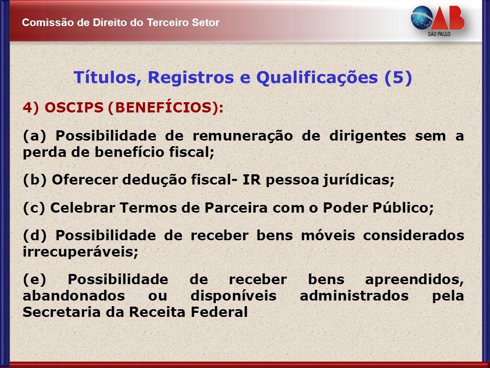 Títulos, Registros e Qualificações (5)
