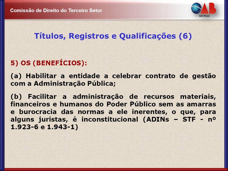 Títulos, Registros e Qualificações (6)