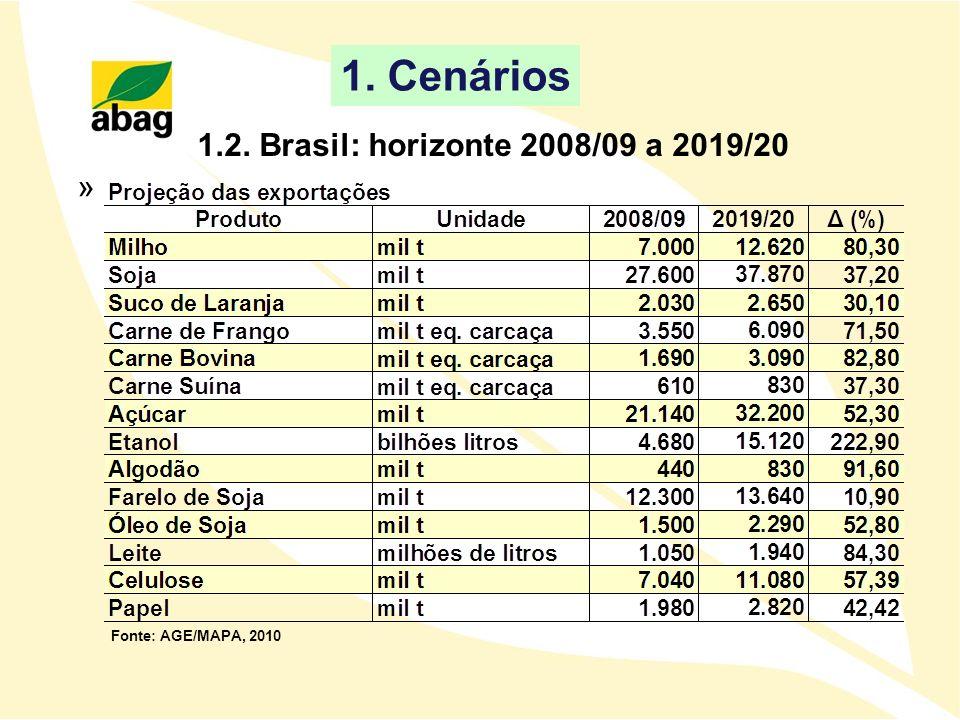 1. Cenários 1.2. Brasil: horizonte 2008/09 a 2019/20 »