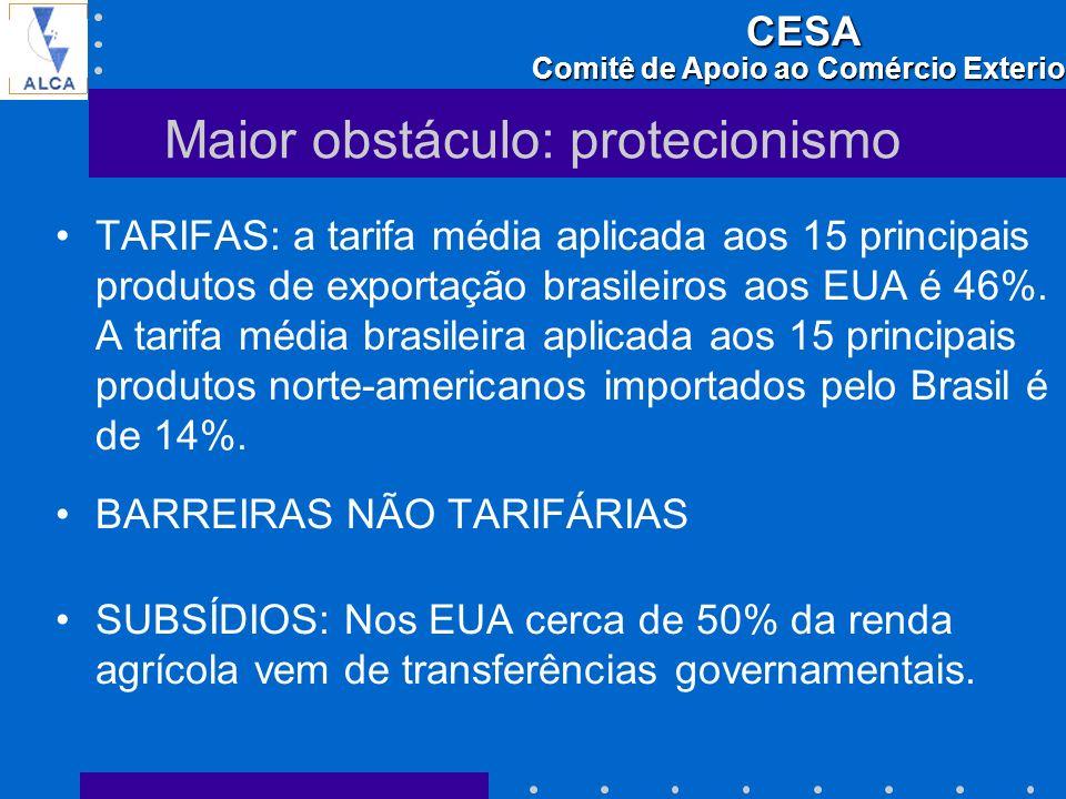 Maior obstáculo: protecionismo