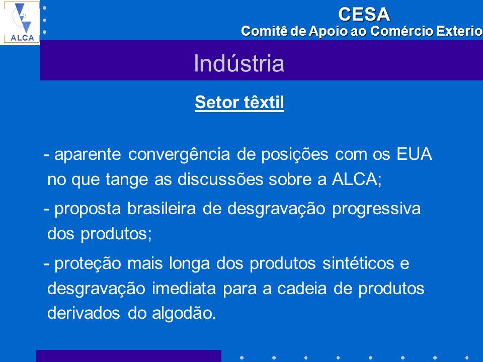 Indústria Setor têxtil