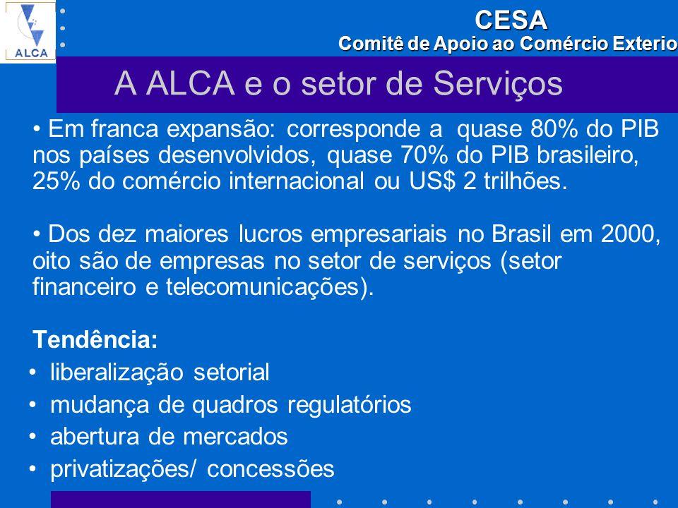 A ALCA e o setor de Serviços