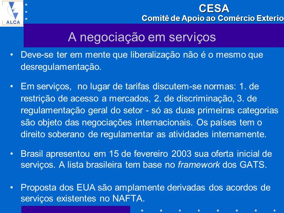 A negociação em serviços