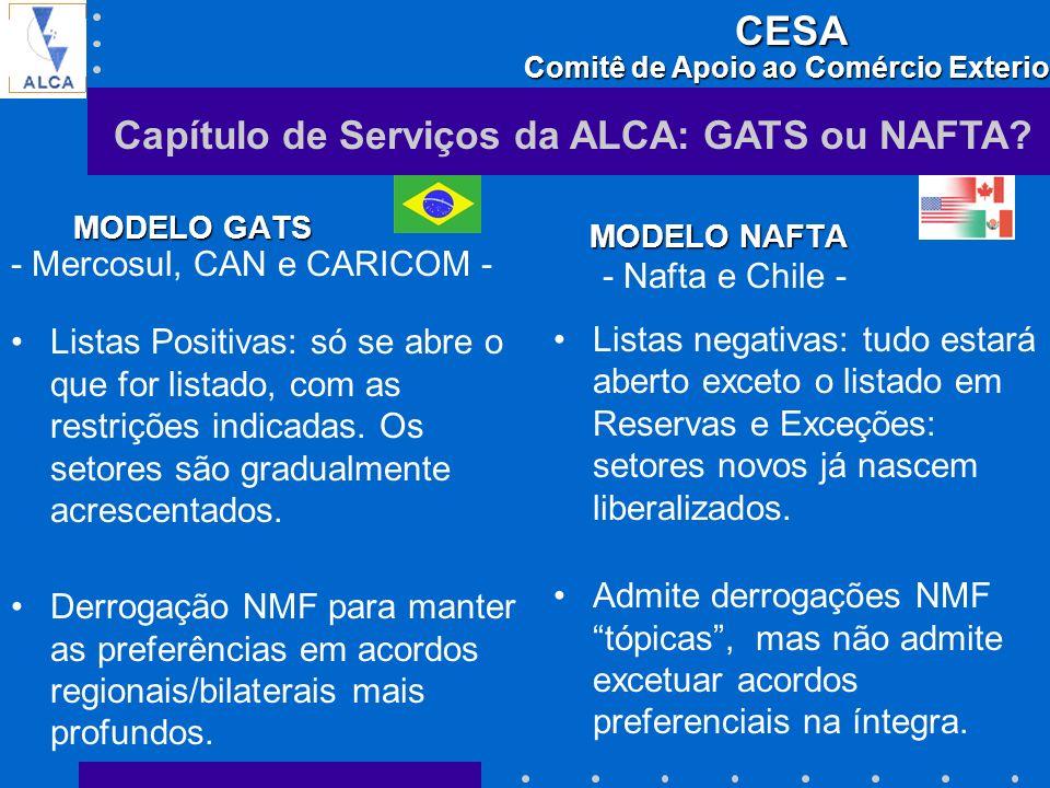 Capítulo de Serviços da ALCA: GATS ou NAFTA