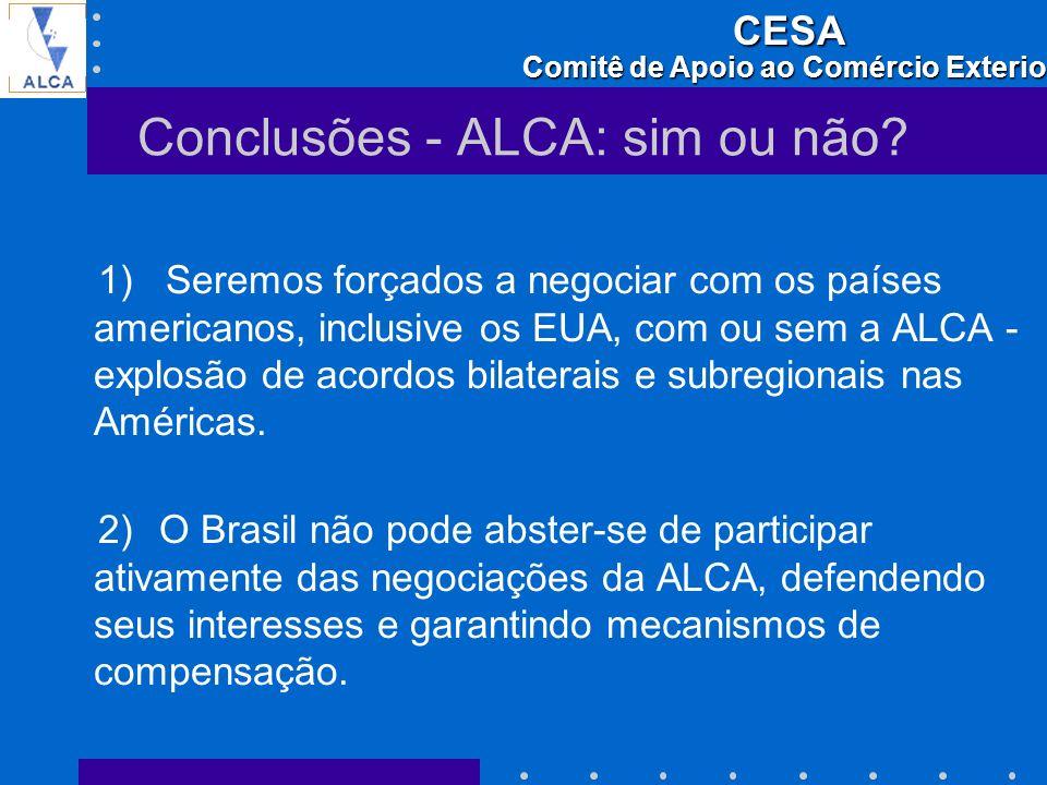 Conclusões - ALCA: sim ou não